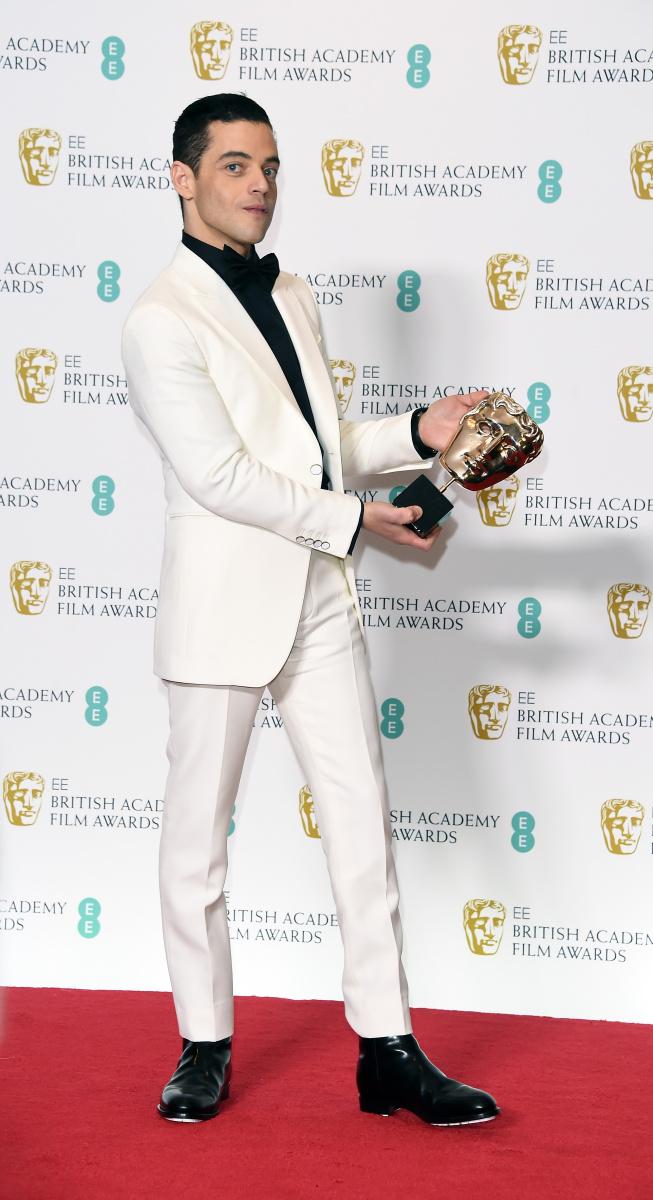 Rami Malek at the Bafta Awards