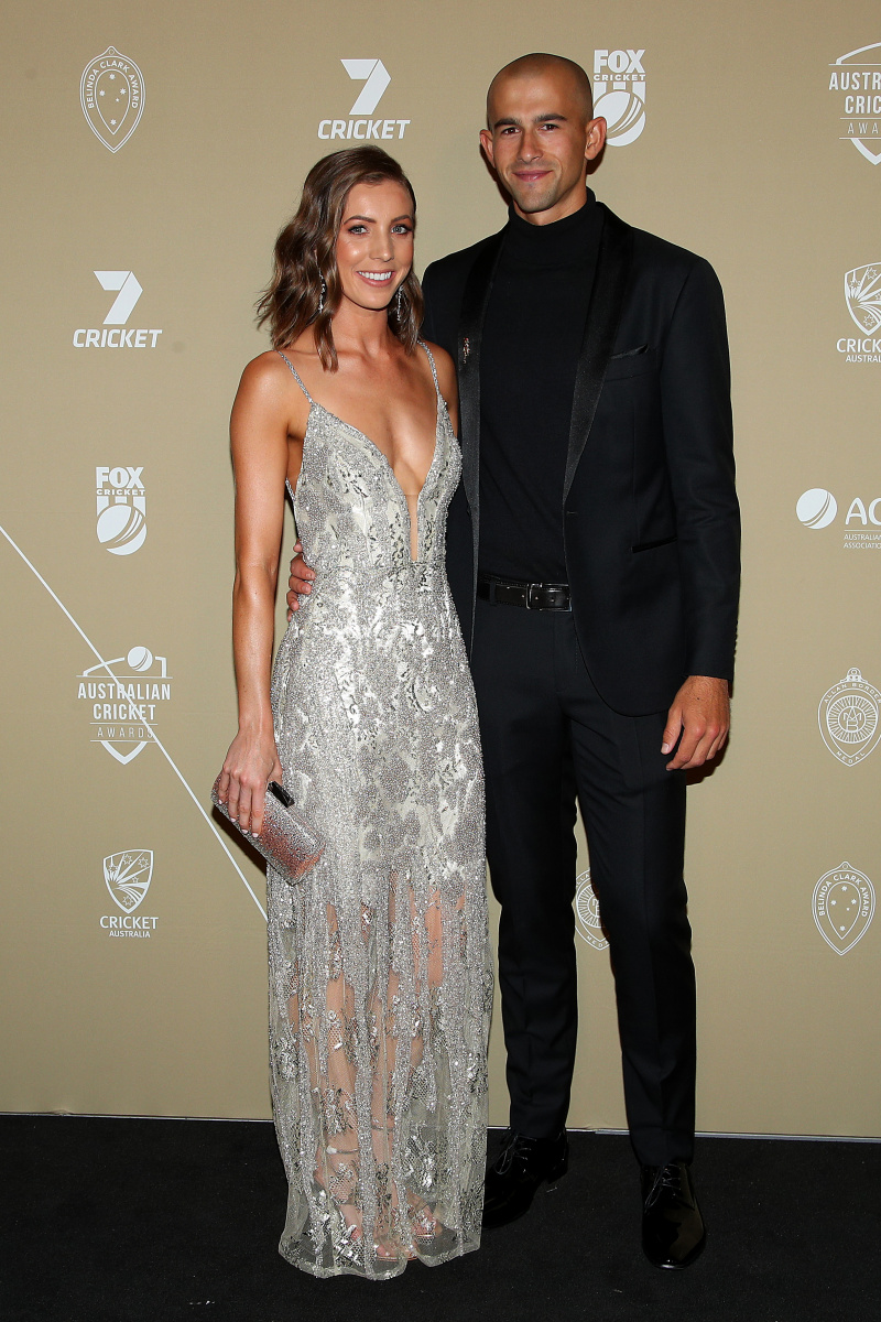 Ashton Agar and Madeleine Hay