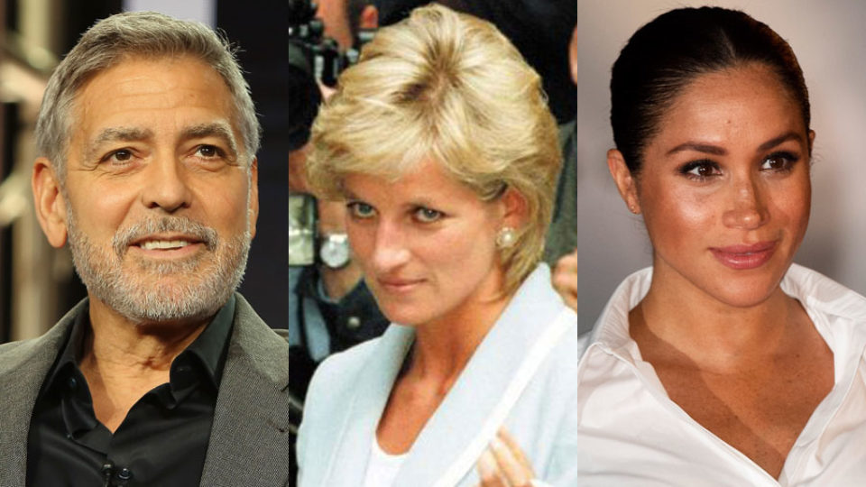 George Clooney compares Meghan Markle's plight to Princess Diana