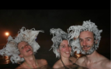 Hair freezing competition in Canada