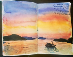 travel diary sketches