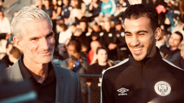 Hakeem al-Araibi steps back into the spotlight, this time for his club's coin toss