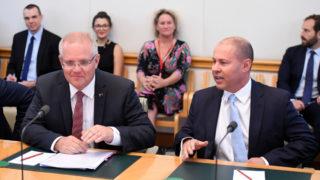 Prime Minister Scott Morrison and Treasurer Josh Frydenberg at last week's housing industry round table.