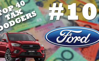 Ford Motor Company of Australia is the tenth biggest tax dodger in Australia.