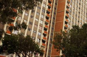 A social housing apartments block.