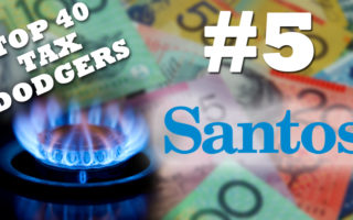 Santos is the fifth biggest tax dodger in Australia.