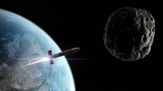 Rocket heading to blow up asteroid