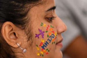 MH370-woman-face-paint