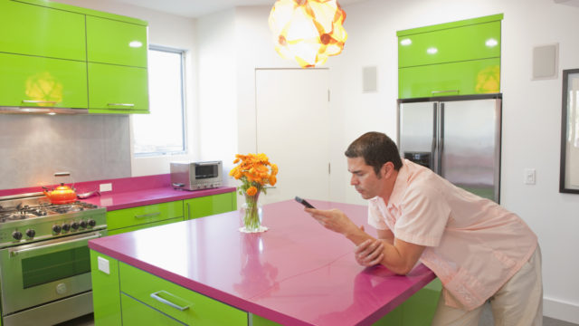 It's certainly bright and colourful, but this quirky kitchen won't be to everyone's taste.