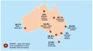 The Brotherhood of St Laurence revealed the youth unemployment hotspots.
