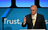 Prime Minister Scott Morrison speaks at the Australian Financial Review Business Summit in Sydney on March 5, 2019.