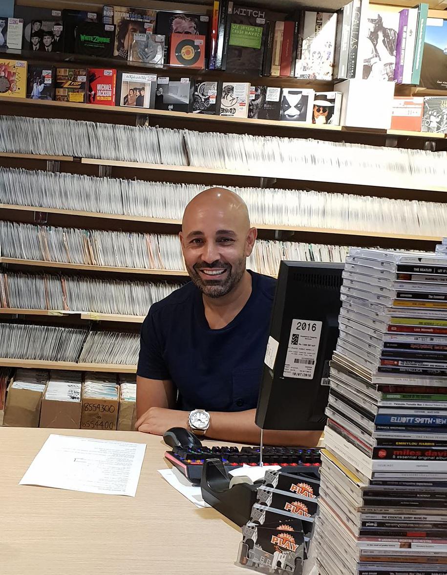Rex Rehki in his Melbourne store.
