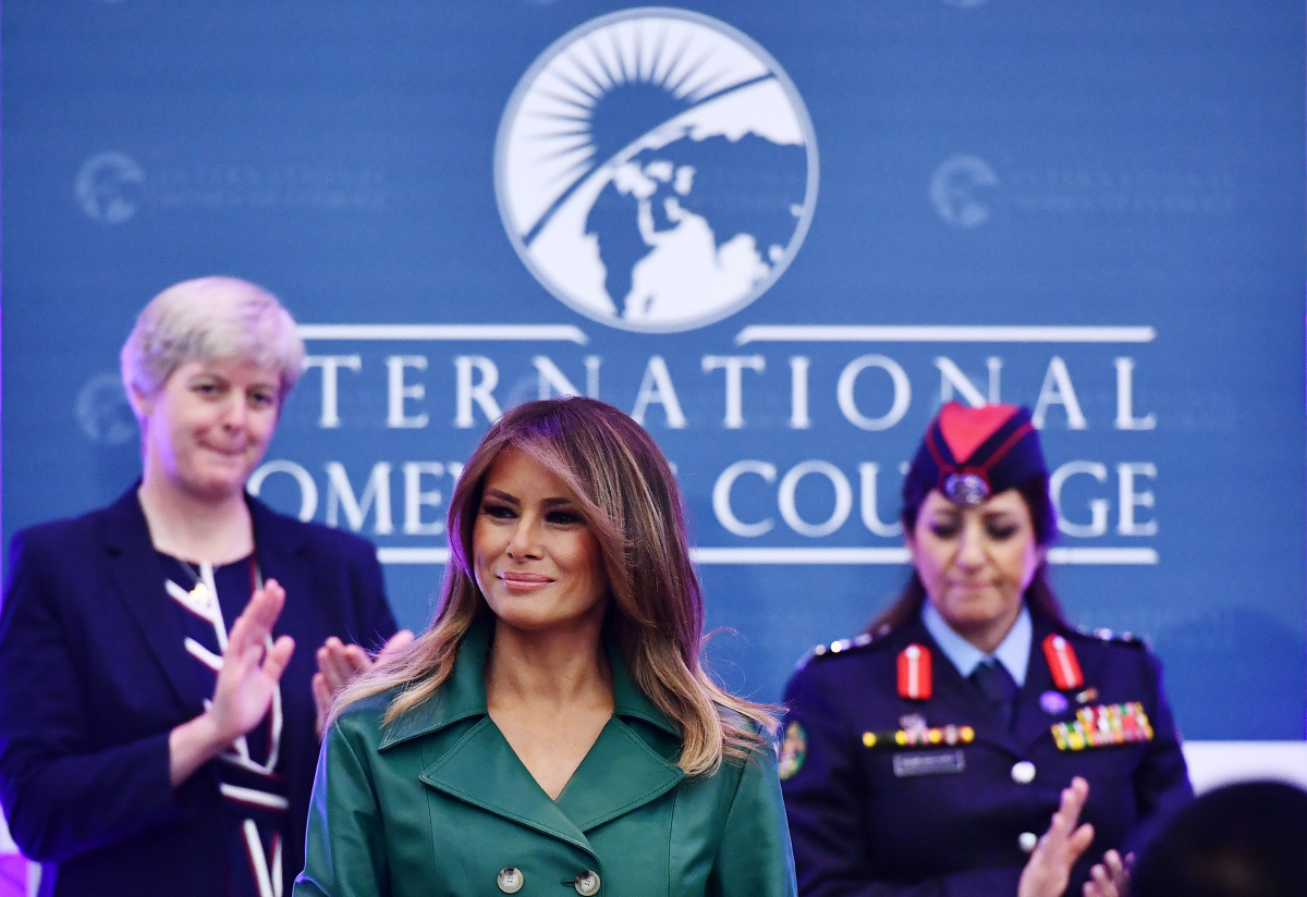 Ivanka Trump shushed on International Women's Day
