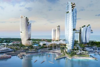 Chinese-backed consortium ASF wanted to build a casino and resort on The Spit.