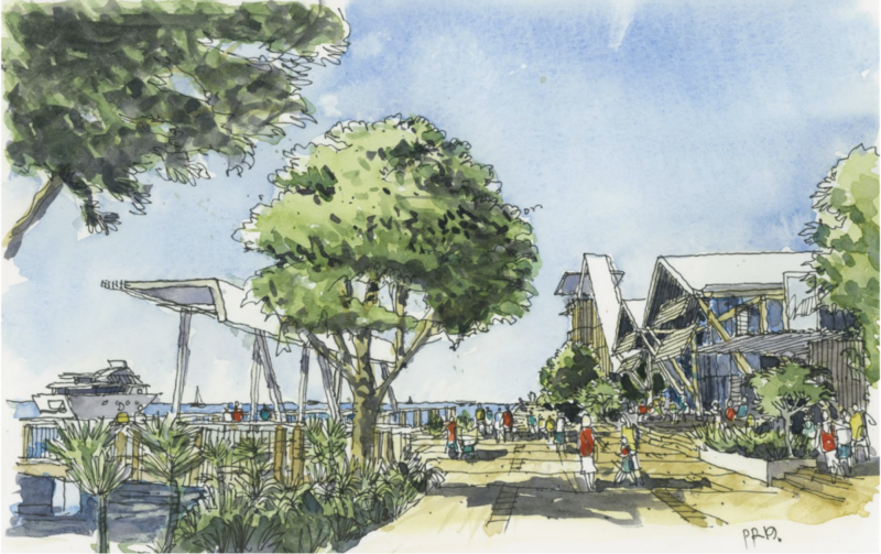 Artist's impression of northern end of The Spit near the Seaway