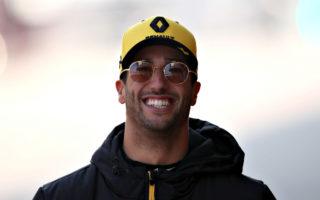 Daniel Ricciardo smiling