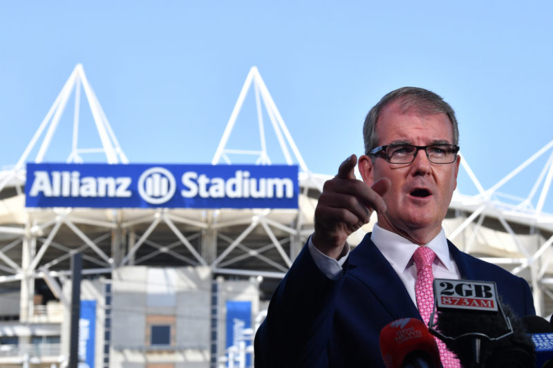 nsw election - michael daley on the stadiums rebuild