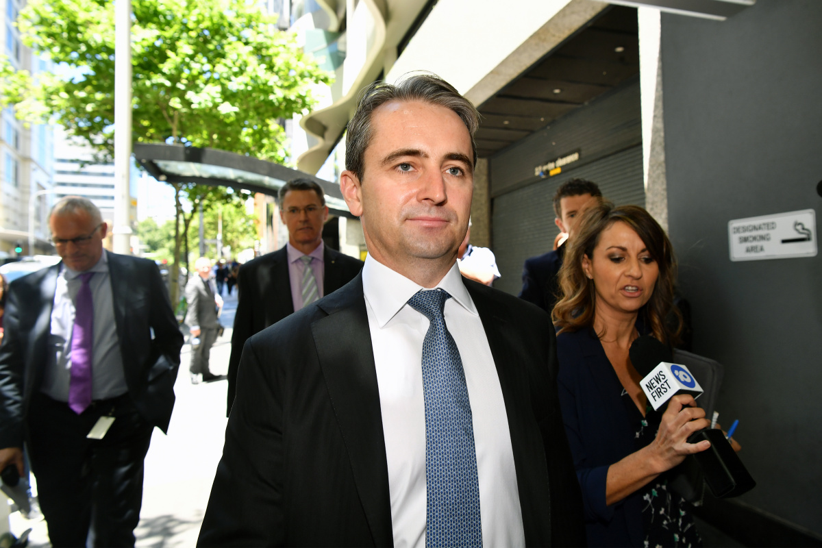 Matt Comyn leaving the banking royal commission.