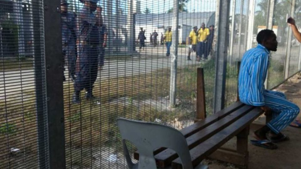 A image showing asylum seekers inside the Manus Island detention centre.