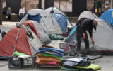 A picture of homeless people living in Sydney's CBD