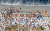 Fight for the Bight protestors have gathered at beaches across Australia