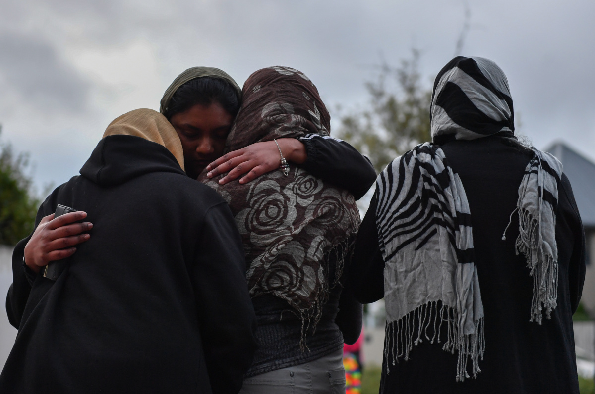 christchurch terror attack mourners