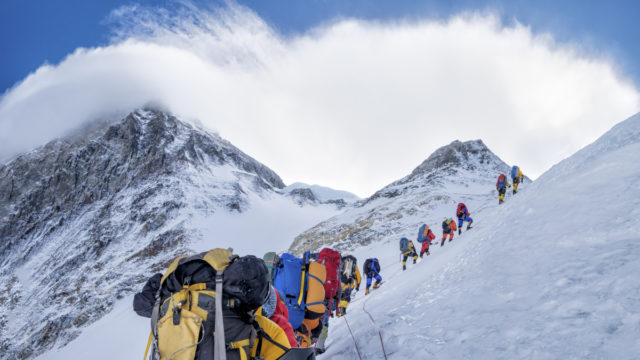 Increasing number of climbers' bodies are being exposed on Mount Everest