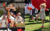 tayla harris kick challenge