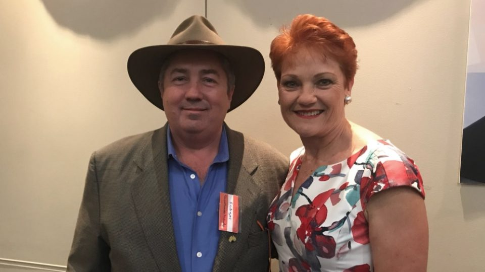 Rodger Muller with Pauline Hanson