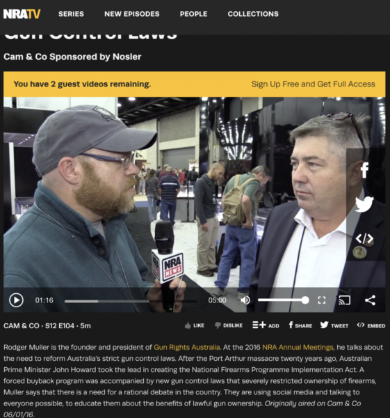 Rodger Muller is interviewed by NRATV