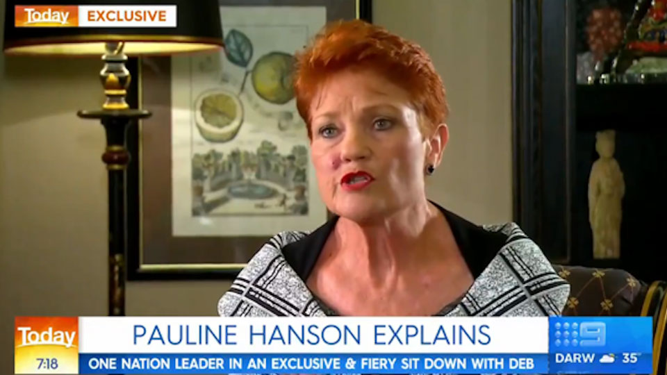 Pauline Hanson Today show
