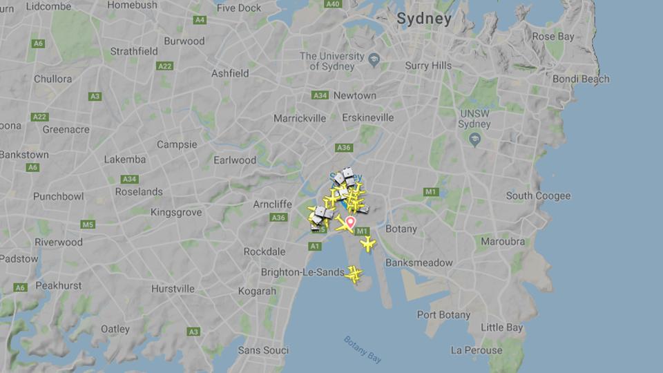 sydney airport fire
