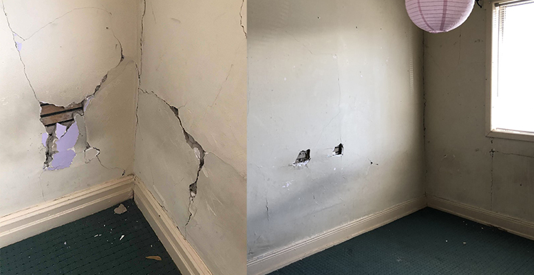 A Melbourne rental with holes in the wall