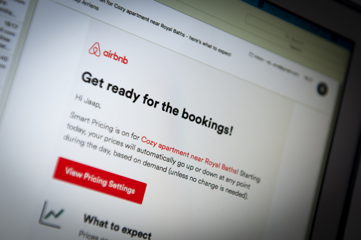 airbnb booking page