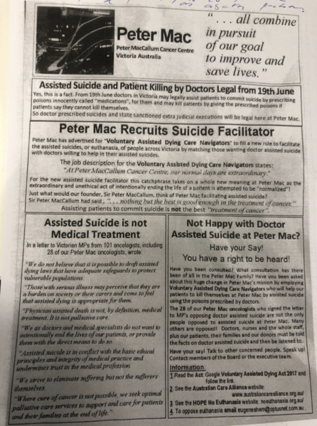Anti-assisted dying flyer