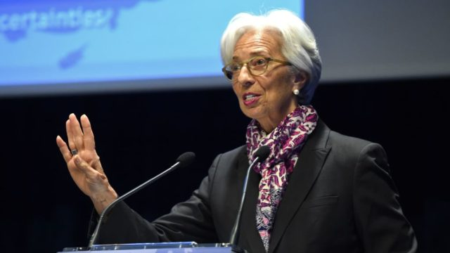 Christine Lagarde, managing director of the IMF, which has downgraded Australia's economic growth for 2019.