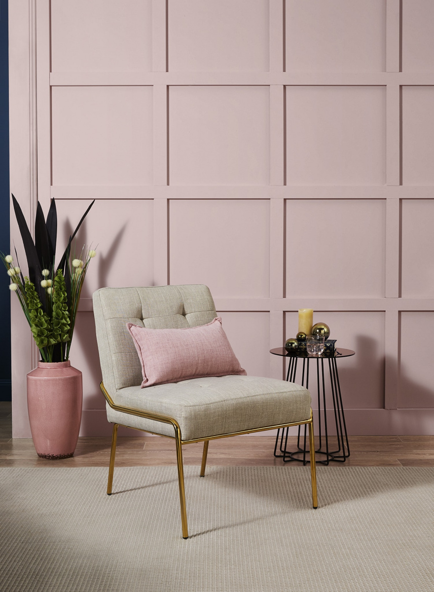 A pale pink wall