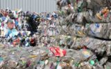 Rubbish awaits recycling at an Adelaide plant.
