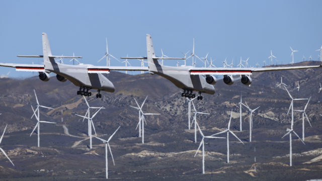 High, wide and handsome: Record-breaking plane takes flight over Californian desert