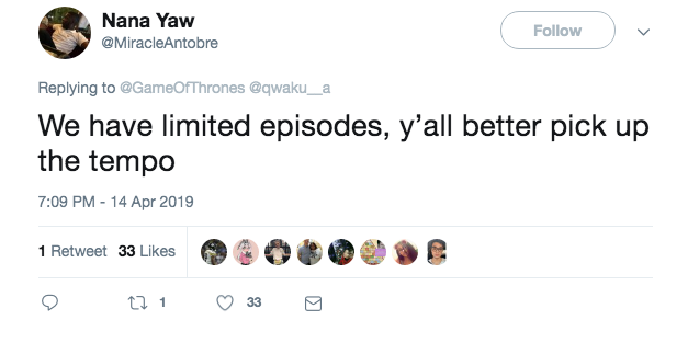 Game of Thrones twitter