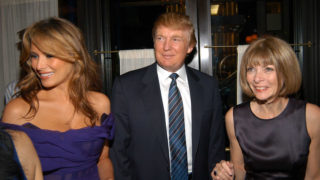 Melania Trump Donald Trump Anna Wintour