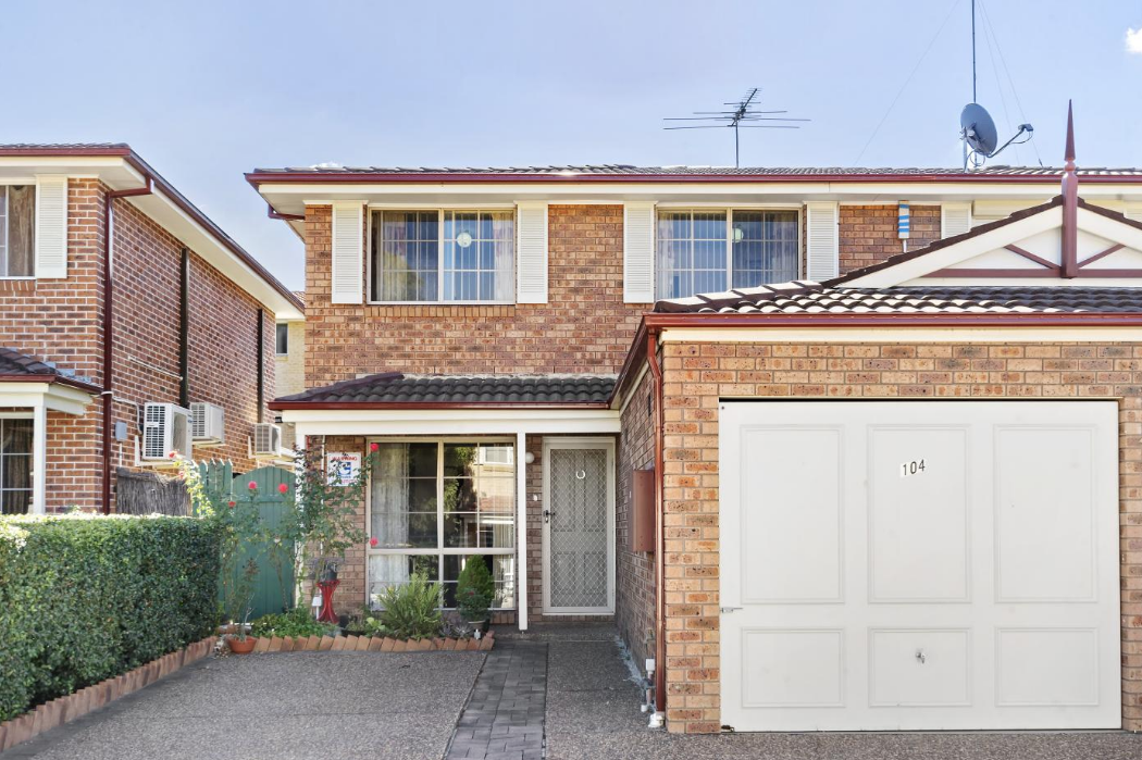 This three-bedroom townhouse in Blacktown is on the market for $500,00.