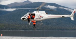 rescue crew helicopter