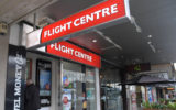The front of a Flight Centre store.