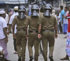 Sri Lanka police raid