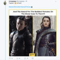 Game of Thrones tweet