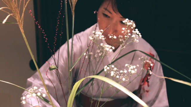 Learn ikebana with artist Kimiko Kyoto through Vacation with an Artist.