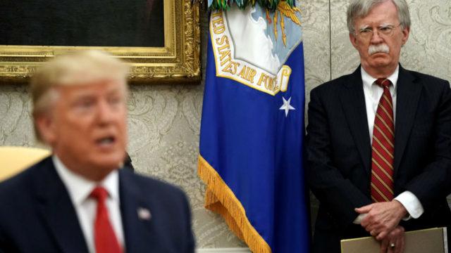 Donald Trump denied telling John Bolton to hold Ukraine military aid pending probe