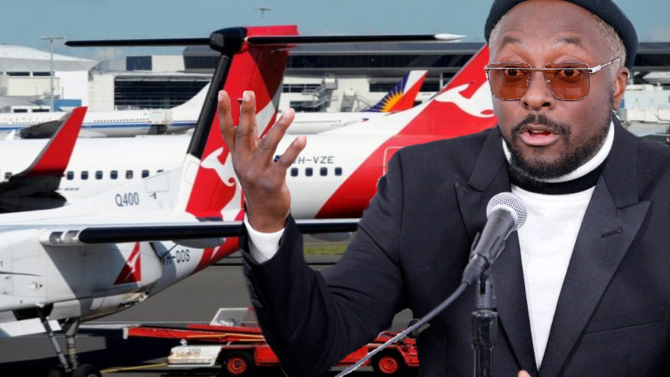 qantas racism will.i.am