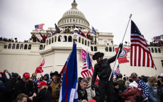 Pro-Trump supporters storm the U.S. Capitol following a rally with President Donald Trump on January 6, 2021 in Washington